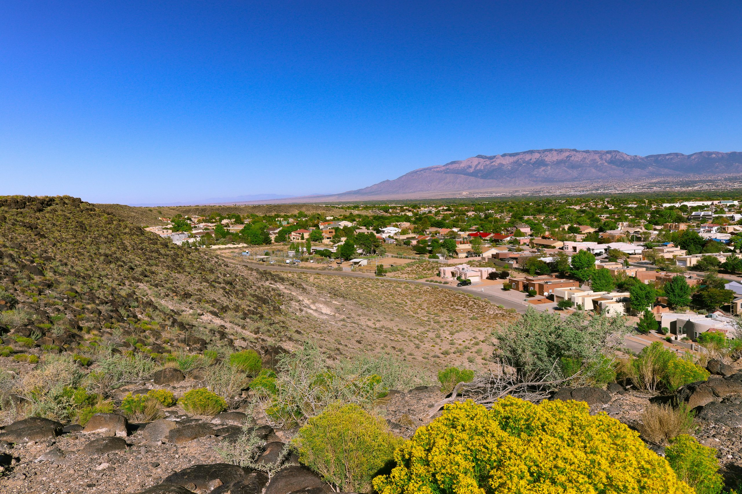 A beautiful view of Sandia Heights in Albuquerque, New Mexico.