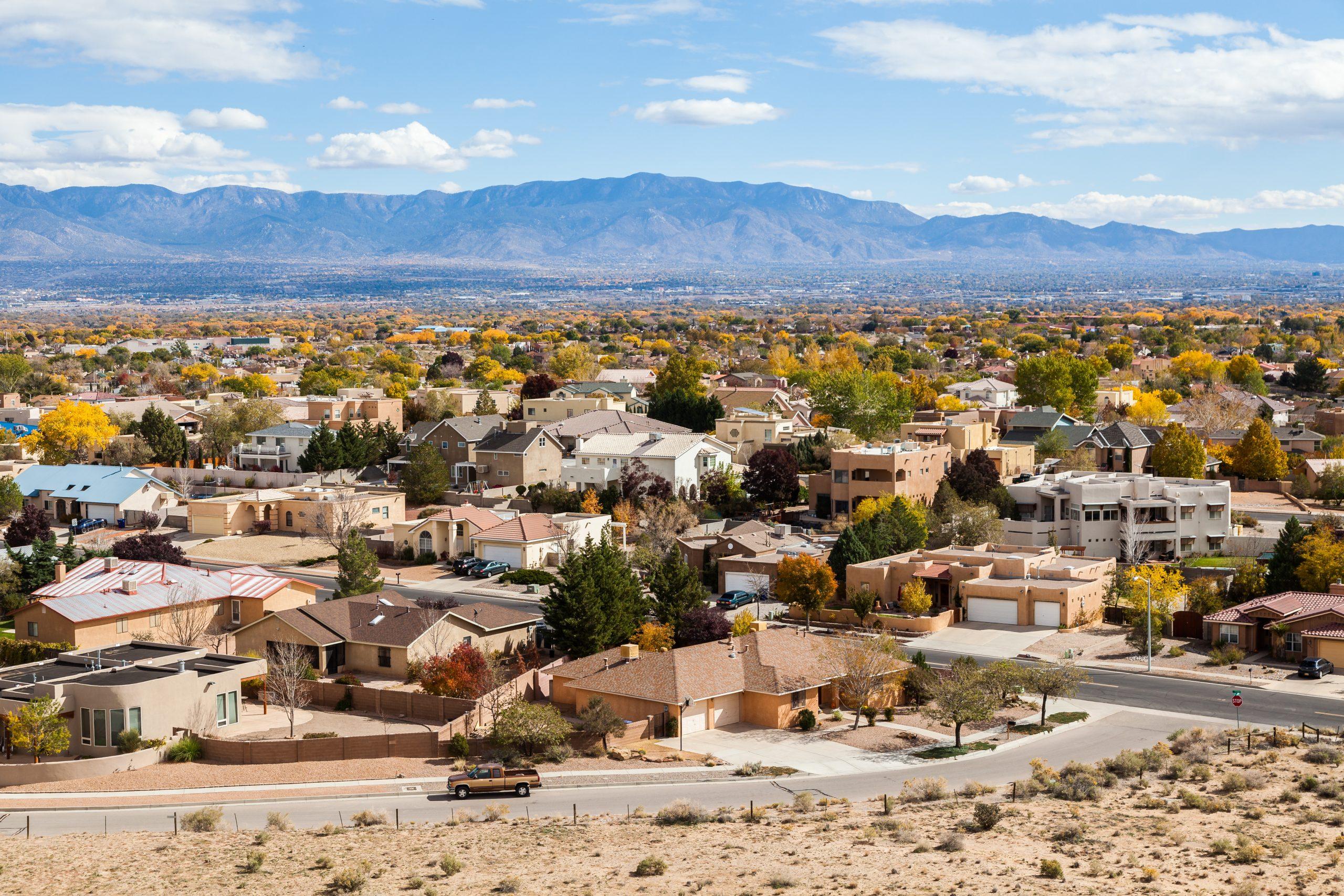 A beautiful neighborhood in Rio Rancho Albuquerque New Mexico.